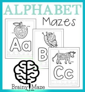 Free Alphabet Mazes for Kids