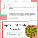 Apples Unit Study Calendar – LIMITED TIME FREEBIE