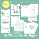 Artist Notebooking Pages