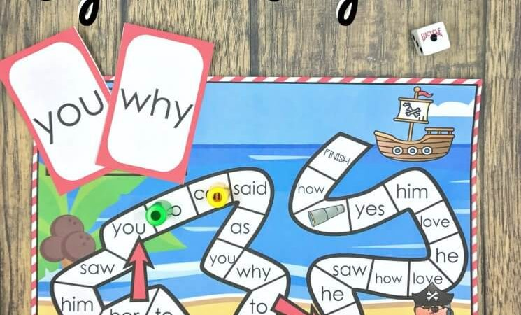 Pirate themed Sight Word Game