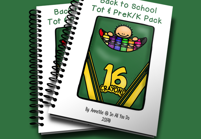 Free Back to School Tot Pack