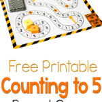 Construction Theme Printable Game: Counting to 5