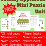 Free Johnny Appleseed Puzzles & Activity Pack