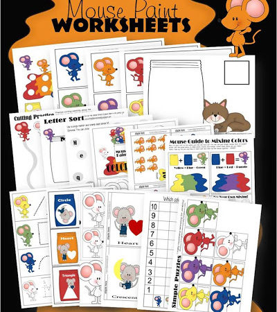 Freebie Mouse Paint Worksheets