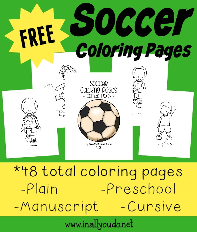If you have a soccer fan or two in your home, grab these printable Soccer themed Coloring Pages and Emergent Readers. :: www.thriftyhomeschoolers.com