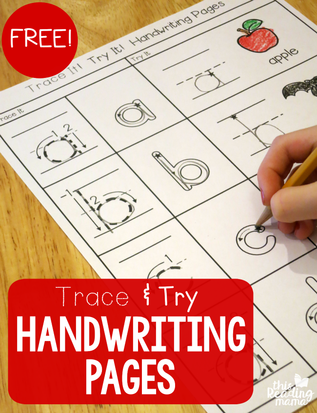 Trace Amp Try Alphabet Handwriting Practice Sheets