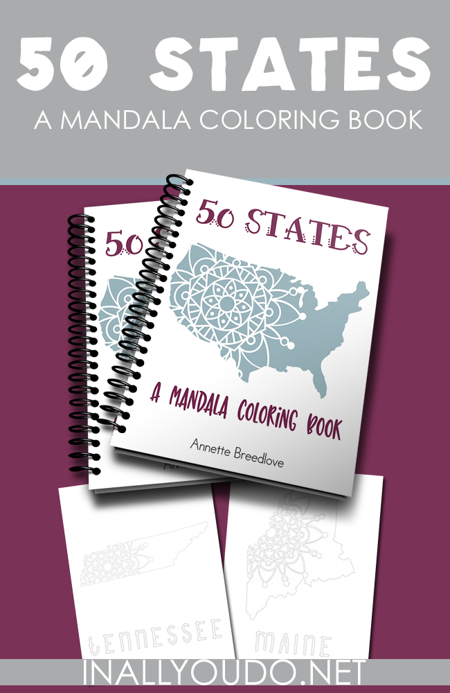 Don't miss this limited time freebie! This beautiful Mandala style 50 States coloring book is the perfect calming activity or addition to any United States Unit Study. :: www.thriftyhomeschoolers.com