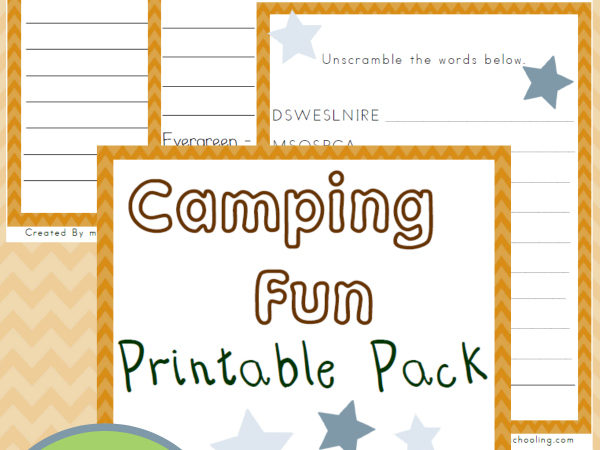 Camping Printables for Middle School
