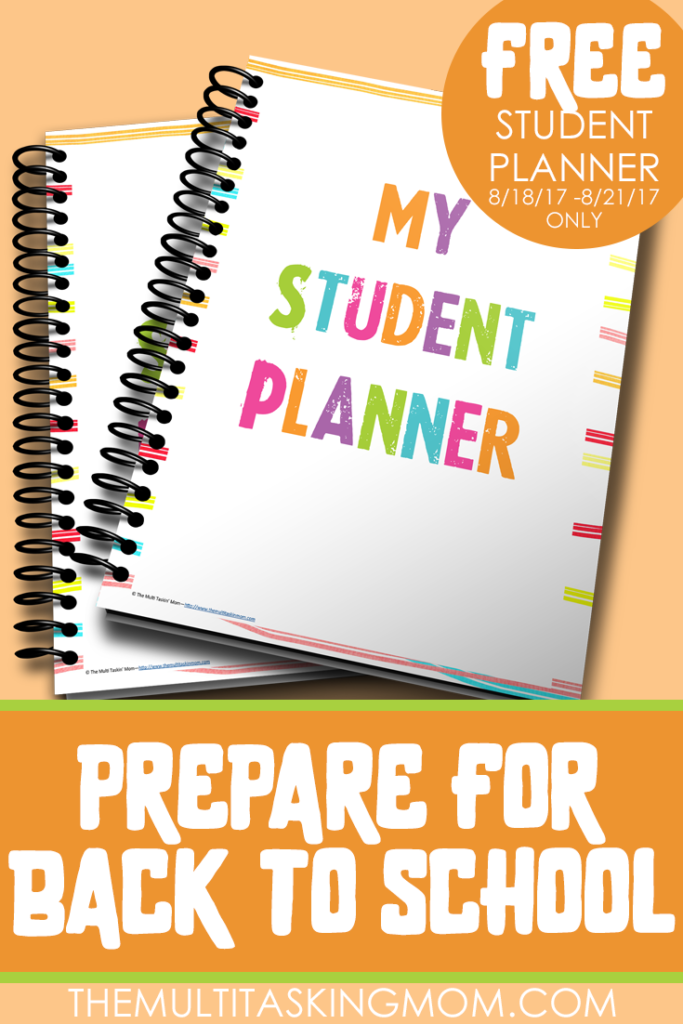 Planning for your new school year? For a Limited Time Only, you can grab this Student Planner FREE. But hurry...this freebie only lasts thru Monday, August 21, 2017! :: www.thriftyhomeschoolers.com