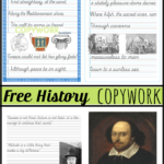 Free History Copywork for Middle School