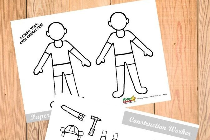 Construction Worker Paper Dolls