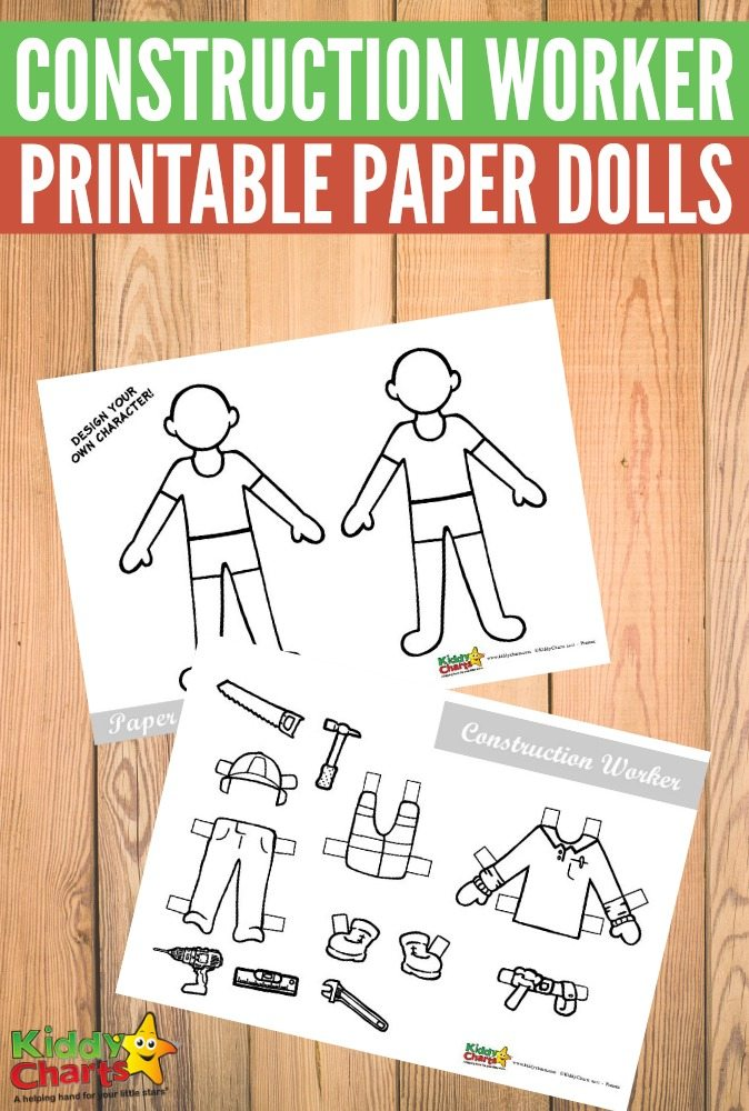 Paper dolls are a great way to stretch the imagination. Grab these Construction Worker themed ones and invite the boys to join in the fun too! :: www.thriftyhomeschoolers.com