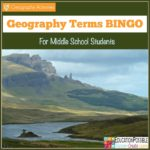 Free Geography Terms BINGO