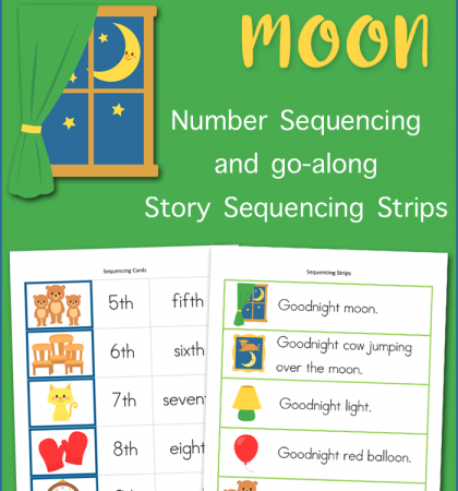 "Sequencing Cards for ""Goonight Moon"""