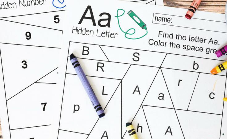 Free Hidden Letter & Number Printables