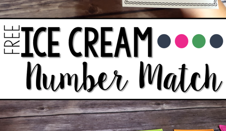 Ice Cream themed Number Matching Printables