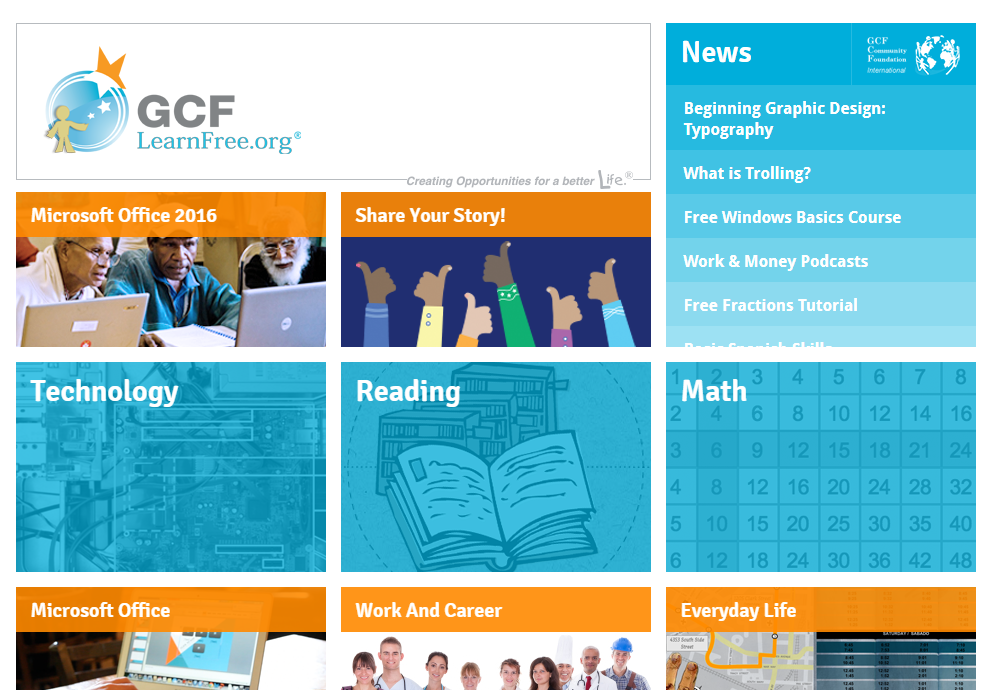 GCF LearnFree.org has over 2000 courses for high schoolers in a variety of subjects - from technology, math, reading, computer and more! :: www.thriftyhomeschoolers.com