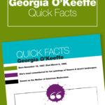 Georgia O'Keeffe Art History printables