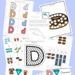 Letter D Printables