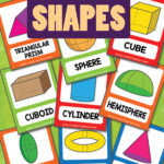 3D Shapes Flashcards Freebie