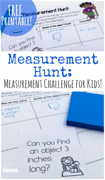 Have fun working on measurements, conversions and more with this printable Measurement Challenge pack for kids! :: www.thriftyhomeschoolers.com