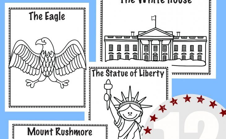 National Symbols Coloring Book Freebie