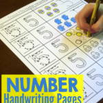 Trace & Try Handwriting Number Pages