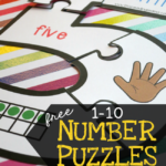 Free Printable Number Puzzles {1-10}
