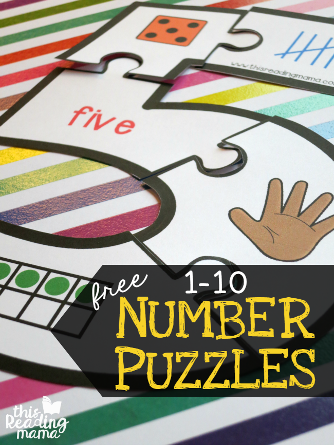 picture about Make a Puzzle From a Picture Printable named Totally free Printable Range Puzzles 1-10 - Thrifty Homeschoolers