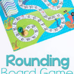 Printable Pirate Rounding to 10 Board Game