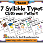 7 Syllable Types Printable Posters