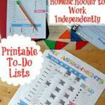 Homeschool Printable To-Do List