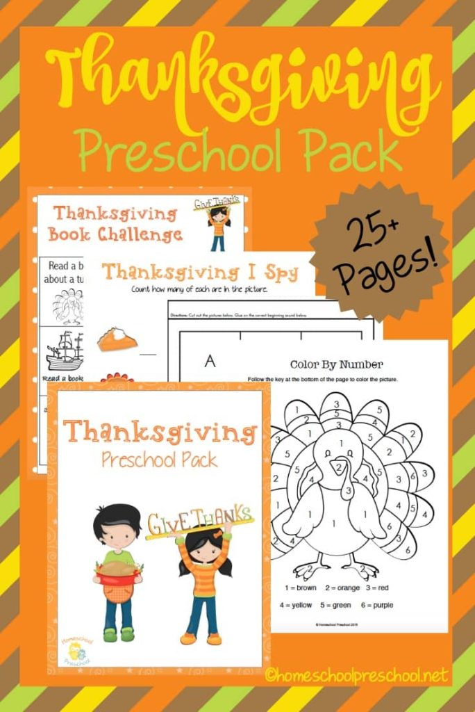 Thanksgiving will be here before we know it and that means it is time to start planning. This Thanksgiving Preschool Pack is a fun way to help them work on counting, handwriting, ABCs and more. :: www.thriftyhomeschoolers.com