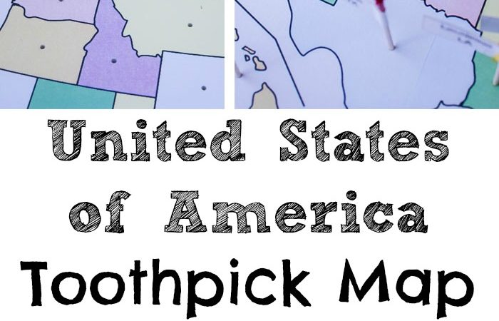 USA Toothpick Map printables