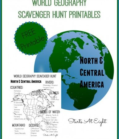 World Geography Scavenger Hunt Printables