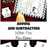 Printable Addition & Subtraction within 5 Game