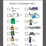 Free Airport Scavenger Hunt for Kids