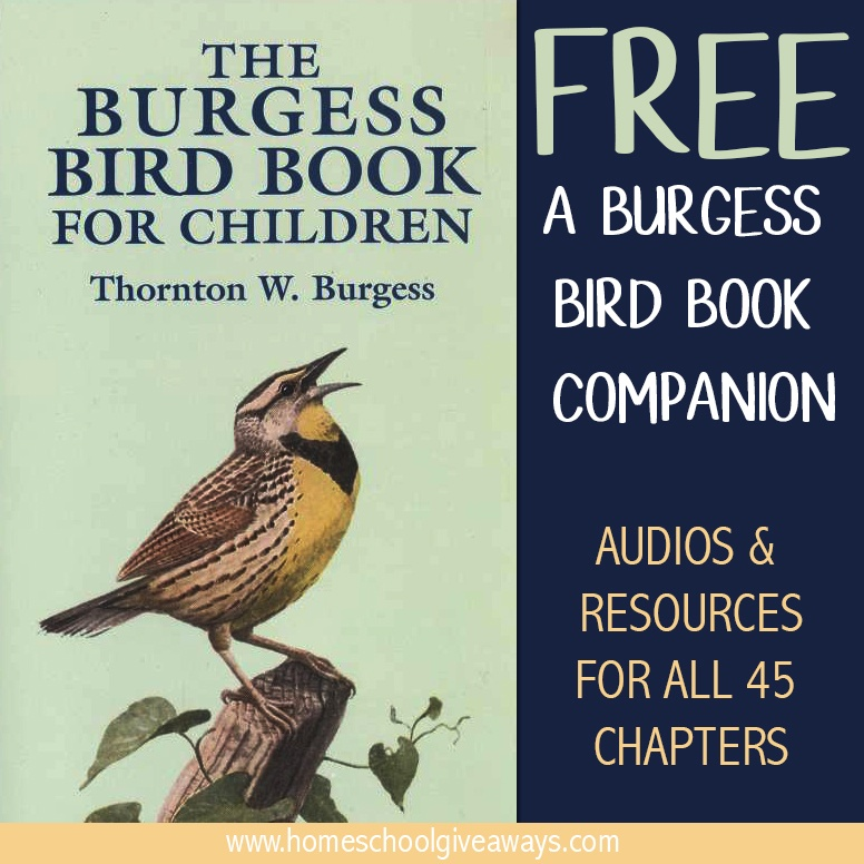 Whether you're a Charlotte Mason homeschooler or just love birds, you will want to check out this FREE Burgess Bird Book for Children Companion Guide with Audios and Resources for all 45 chapters! :: www.thriftyhomeschoolers.com