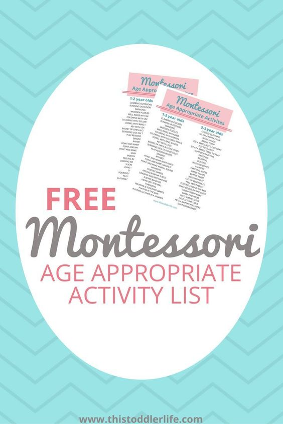 Do you love the Montessori learning style? Grab these printable Age-Appropriate Montessori Activity Lists to help! :: www.thriftyhomeschoolers.com