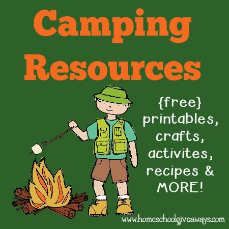 Free Camping printables, crafts, recipes & more