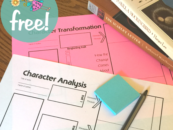 Character Analysis Notebooking Pages