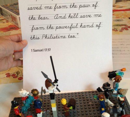 Free LEGO Bible Verse Copywork