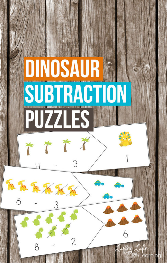If you have a dinosaur fan in your house, they are sure to love these printable subtraction puzzles. :: www.thriftyhomeschoolers.com