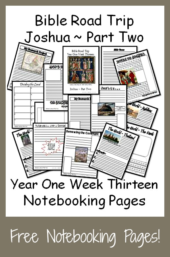 If you're studying the book of Joshua this year in your Bible studies, don't miss these notebooking pages. :: www.thriftyhomeschoolers.com