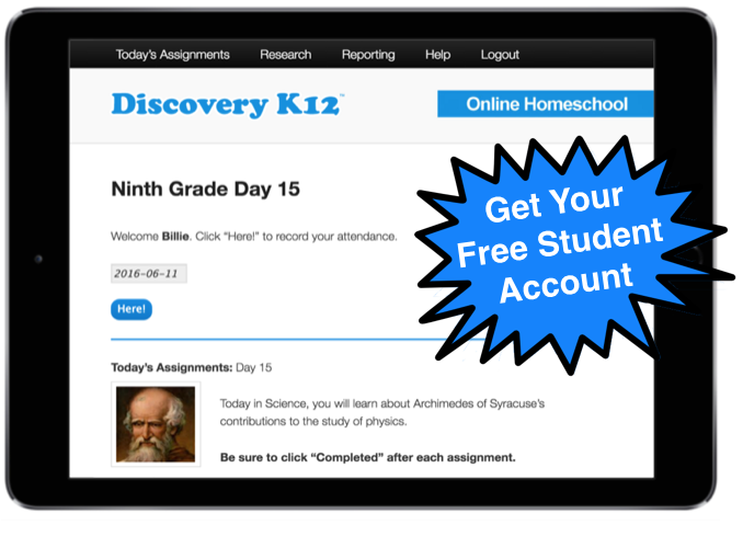 Looking for an easy, online homeschool solution? Check out Discovery K12 with a Free Student Account! :: www.thriftyhomeschoolers.com