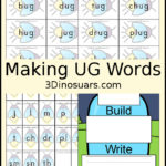 """UG"" Word Family Printables"