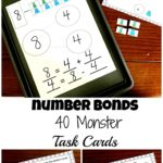 Monster Themed Number Bonds Task Cards