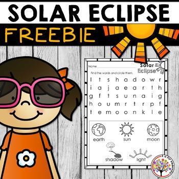 Free 2017 Solar Eclipse Worksheet (PreK-1)