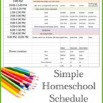 Work-at-Home Mom Homeschool Schedule
