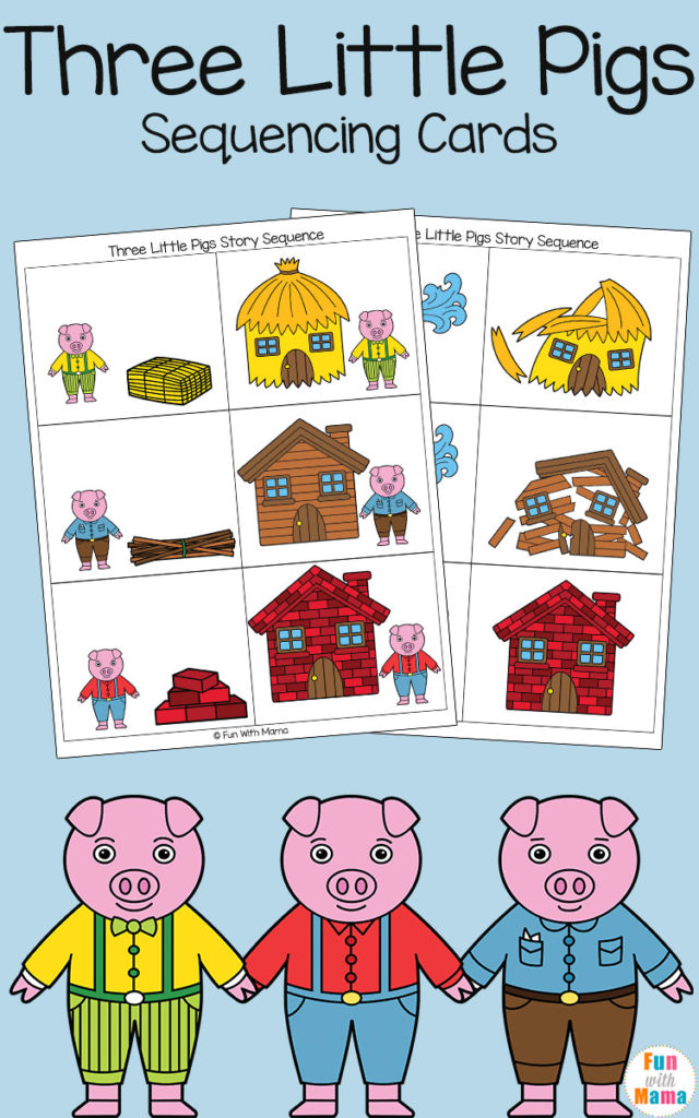 Help your little ones learn sequencing and work on reading comprehension with these Three Little Pigs Sequencing Cards. :: www.thriftyhomeschoolers.com